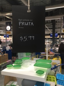 Pruta food containers on display at IKEA