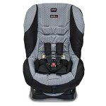 Britax Roundabout convertible car seat in gray and black fabric front view
