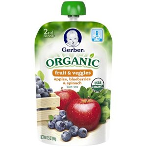 Gerber baby food organic pouch