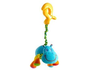 Tiny Love jiggling hippo toy with large clip attachment