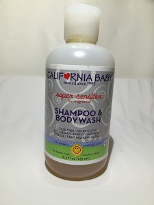 California Baby Super Sensitive Shampoo and Body Wash 8.5 ounce bottle