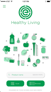 healthy living app screen shot environmental working group