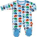 Magnificent Baby brand pajamas with magnet closures in elephant print