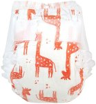 Honest Company Disposable Diaper with orange giraffe print