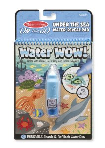 Water Wow under the sea themed water reveal pad and water pen by Melissa and Doug