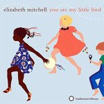 You Are My Little Bird album cover with three children in summer clothing dancing and carrying instruments on pale blue background