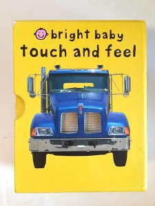 Bright Baby Touch and Feel books in gift box set yellow Words board book
