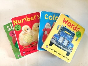 Bright Baby Touch and Feel books set of four shown fanned out
