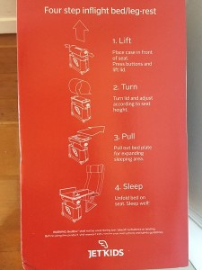 Four step instructions for installing the JetKids BedBox