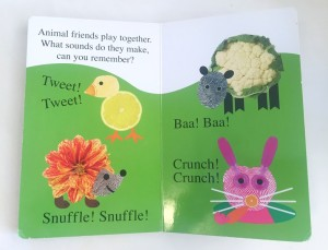 Alphaprints Tweet Tweet touch and feel board book page