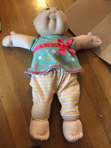 Cabbage Patch Doll wearing Baby Stella doll clothes