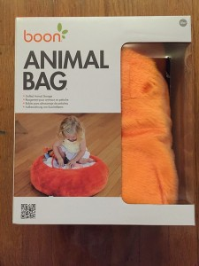Boon Animal bag in orange shown in box
