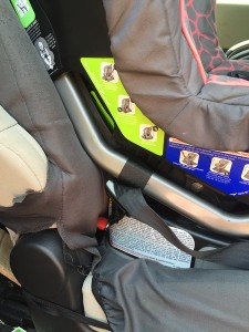Latch Anchor attaching Britax Marathon convertible car seat to vehicle
