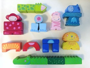Haba Zippity Zoo wooden block set of 25