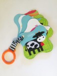 touch and feel cards by Infantino on a link strap band