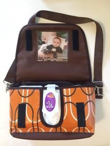 Reese Li changing clutch bag purse shown open