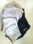 Kid's dirty clothes turned inside out