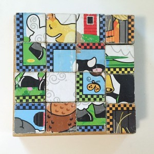 Melissa and Doug Farm Animals 16 piece wooden cube puzzle