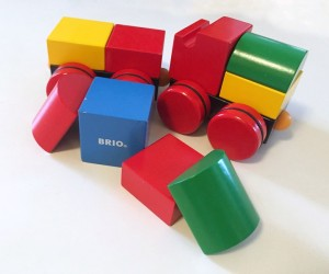 Brio magnetic train blocks