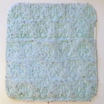 Changing pad liner mat in pale green with teddy bear print