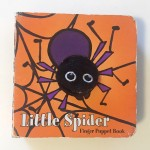 Little Spider orange finger puppet board book