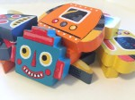 Janod chunky wooden robot magnet pieces in stacks