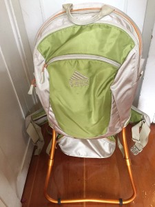 Kelty Kids FC 3.0 backpack carrier in light green and gray