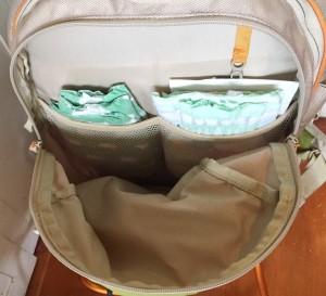 Kelty Kids backpack carrier storage area