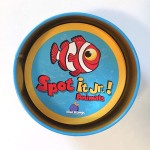 Spot It Junior animals card matching game in tin case