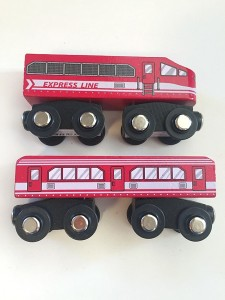 Express line wooden train in red from target