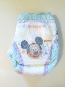 A huggies disposable diaper