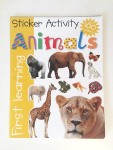 Animal Sticker activity book animals first learning priddy