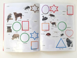 Sticker pages from animal activity book early learning priddy