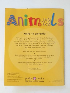 back cover animal sticker activity book early learning priddy
