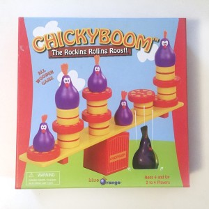 Chicky Boom balancing game box from blue orange