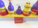 Chicky Boom chicken balancing game young kids purple chickens