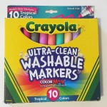 Crayola ultra clean washable markers 10 count in tropical colors