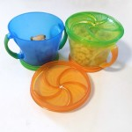 Munchkin snack containers with snacks inside