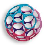 Oball toy with pink purple and blue