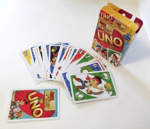 Uno card game for kids Jake and Neverland pirate edition