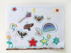 Child's artwork shown without framing