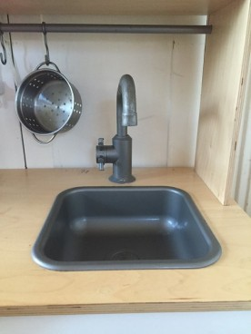 Removable washable plastic sink from IKEA Duktig play kitchen