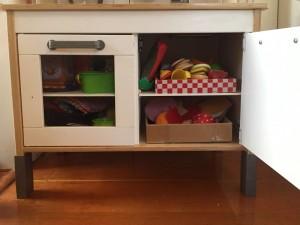 Inside the IKEA Duktig play kitchen for kids