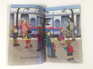 Page from inside City Train Stone Arch easy Reader book for kids