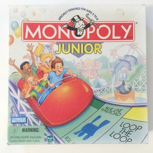 Monopoly Junior property board game for kids in a box carnival theme edition