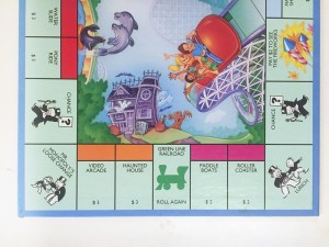 Monopoly Junior board game fun amusment park theme