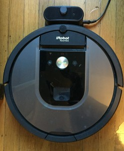 iRobot Roomba parked on charging base station