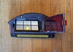 Roomba filter inside collection tray