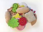 Melissa and Doug felt food sandwich set with pieces in a pile