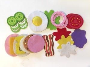 Melissa and doug felt pieces from sandwich set